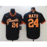 Men San Francisco Giants #24 Mays Black Game 2021 Nike MLB Jersey