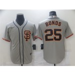 San Francisco Giants #25 Barry Bonds Gray Cool Base Jersey