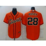 San Francisco Giants #28 Buster Posey Orange Cool Base Jersey