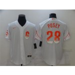 San Francisco Giants #28 Buster Posey White 2021 City Connect Cool Base Jersey