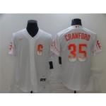 San Francisco Giants #35 Brandon Crawford White 2021 City Connect Cool Base Jersey