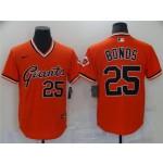 San Francisco Giants #25 Barry Bonds Vintage Orange Jersey