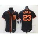 San Francisco Giants #23 Kris Bryant Black Flex Base Jersey