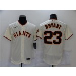San Francisco Giants #23 Kris Bryant Cream Flex Base Jersey