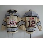 MLB San Francisco Giants #12 Joe Panik Cream All Stitched Hooded Sweatshirt