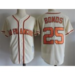 Men's Throwback San Francisco Giants #25 Barry Bonds Cream Cooperstown Collection MLB Jersey