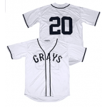 MLB Homestead Grays #20 Josh Gibson White jersey