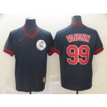 MLB Cleveland Indians #99 Ricky Vaughn Navy Nike Throwback Jersey
