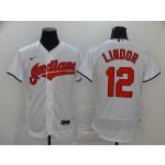 MLB Cleveland Indians #12 Francisco Lindor White 2020 Nike Flexbase Jersey