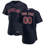 Men's Cleveland Indians Custom Nike Navy Alternate 2020 Authentic Flexbase MLB Jersey(Name and number remark in comment column)