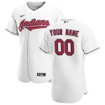 Men's Cleveland Indians Custom Nike White Home 2020 Authentic Flexbase MLB Jersey(Name and number remark in comment column)
