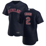 Men's Cleveland Indians #2 Yu Chang Nike Navy Alternate 2020 Authentic Player MLB Jersey