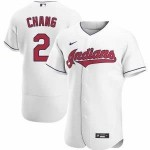 Men's Cleveland Indians #2 Yu Chang Nike White Home 2020 Authentic Team MLB Jersey