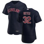 Men's Cleveland Indians #32 Franmil Reyes Nike Navy Alternate 2020 Authentic Player MLB Jersey