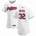 Men's Cleveland Indians #32 Franmil Reyes Nike White Home 2020 Authentic Team MLB Jersey