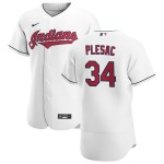 Men's Cleveland Indians #34 Zach Plesac Nike White Home 2020 Authentic Team MLB Jersey