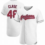 Men's Cleveland Indians #48 Emmanuel Clase Nike White Home 2020 Authentic Team MLB Jersey