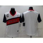 Cleveland Indians White 2021 Little League Classic Cool Base Team Jersey