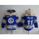 MLB Toronto Blue Jays #11 Kevin Pillar Blue All Stitched Hooded Sweatshirt