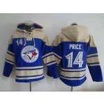 MLB Toronto Blue Jays #14 David Price Blue All Stitched Hooded Sweatshirt