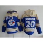 MLB Toronto Blue Jays #20 Josh Donaldson Blue All Stitched Hooded Sweatshirt