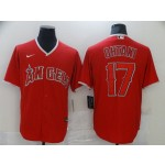 Men's Los Angeles Angels #17 Ohtani Red Game 2021 Nike MLB Jersey