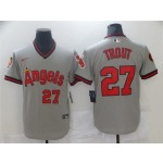 California Angels #27 Mike Trout Vintage Gray Jersey