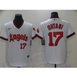California Angels #17 Shohei Ohtani Vintage White Jersey