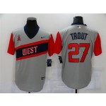 Los Angeles Angels #27 Mike Trout Gray 2021 Little League Classic Cool Base Jersey