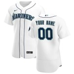 Men's Seattle Mariners Custom Nike White Home 2020 Authentic MLB Jersey (Name and number remark in comment column)