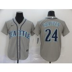 MLB Seattle Mariners #24 Ken Griffey Jr. Gray 2020 Nike Cool Base Jersey