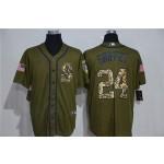 MLB Seattle Mariners #24 Ken Griffey Jr. Olive 2020 Nike Cool Base Jersey