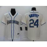 MLB Seattle Mariners #24 Ken Griffey Jr. Cream 2020 Nike Cool Base Jersey