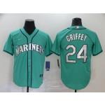 MLB Seattle Mariners #24 Ken Griffey Jr. Green 2020 Nike Cool Base Jersey
