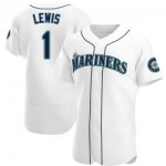 Men's Seattle Mariners #1 Kyle Lewis Nike White Home 2020 Authentic Player MLB Jersey