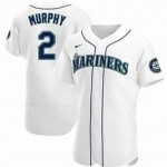 Men's Seattle Mariners #2 Tom Murphy Nike White Home 2020 Authentic Player MLB Jersey