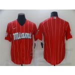 Miami Marlins Red 2021 City Connect Cool Base Team Jersey