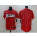Miami Marlins Red 2021 City Connect Flex Base Team Jersey