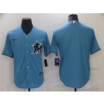 Miami Marlins Alternate Blue Cool Base Team Jersey