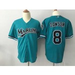 Men's Throwback Miami Marlins #8 Andre Dawson Green Cooperstown Collection MLB Jersey