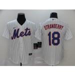 MLB New York Mets #18 Darryl Strawberry White 2020 Nike Cool Base Jersey