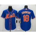 MLB New York Mets #18 Darryl Strawberry Blue 2020 Nike Cool Base Jersey