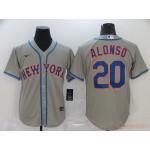 MLB New York Mets #20 Pete Alonso Grey 2020 Nike Cool Base Jersey