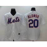 MLB New York Mets #20 Pete Alonso White 2020 Nike Cool Base Jersey