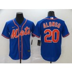 MLB New York Mets #20 Pete Alonso Blue 2020 Nike Cool Base Jersey