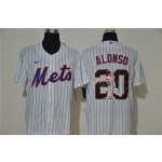 MLB New York Mets #20 Pete Alonso White Nike Cool Base Player Jersey