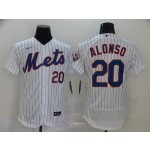 MLB New York Mets #20 Pete Alonso White 2020 Nike Flexbase Jersey
