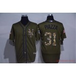 MLB New York Mets #31 Mike Piazza Olive 2020 Nike Cool Base Jersey