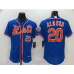 MLB New York Mets #20 Pete Alonso Blue 2020 Nike Flexbase Jersey