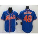 MLB New York Mets #48 Jacob DeGrom Blue 2020 Nike Cool Base Jersey
